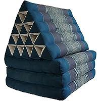 Foldout Triangle Thai Cushion Three Fold Jumbo Size, Blue