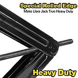 "WEIZE Camper RV Trailer Stabilizer Leveling Scissor Jacks with Handle -24""- 5000lbs - Set of 2"