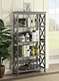 Convenience Concepts Oxford 5-Tier Bookcase, Gray