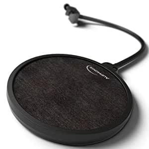 Auphonix 6-Inch Diameter Microphone Pop Filter. Double Mesh Screen. Bonus Recording Tips and Tricks Ebook