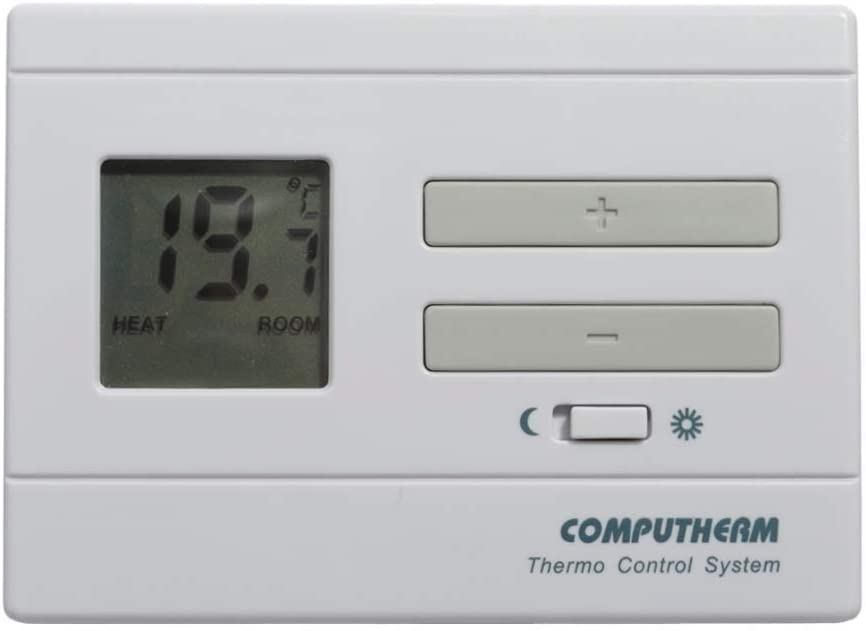 COMPUTHERM Q3 Digital Room Thermostat Home Climate Control, Temperature Thermometer, Wall Thermostat, Economy & Comfort Mode