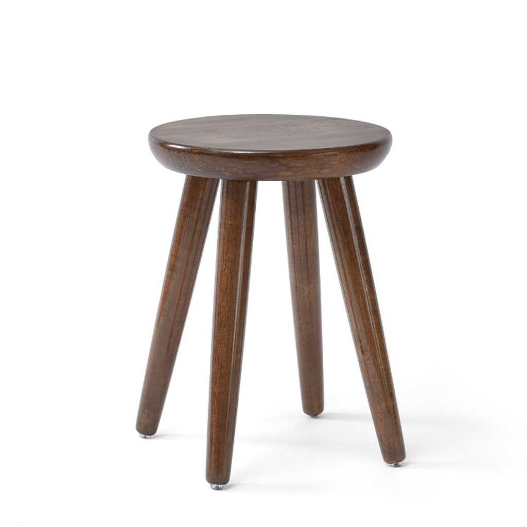 A 3140CM Japanese Style Rubber Wood Stool, Small Round Bench Stool for Dressing Table Home Coffee Table Stool Chair (color   B, Size   31  30CM)