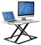 Adjustable Standing Desk Fully Assembled Sit Stand Desk Converter Ergonomic Workstation, Low Profile Sturdy Office Desk Stand, Smooth Transition from 1 to 16 Inches, 31 X 21''Flat Surface by Husky Desk