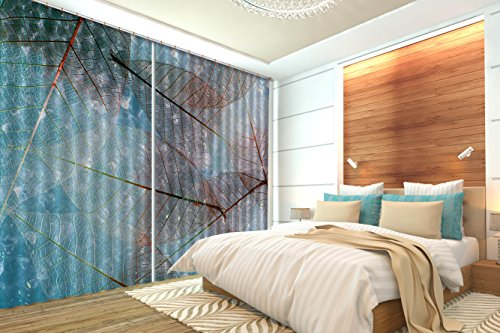 Price comparison product image 3D Beautiful Leaves Art 307 Blockout Photo Curtain Print Curtains Drapes Fabric Window / 3D Large Photo Curtain,  AJ Wallpaper US Carly (80''x 83'' 203cmx213cm(WxH))