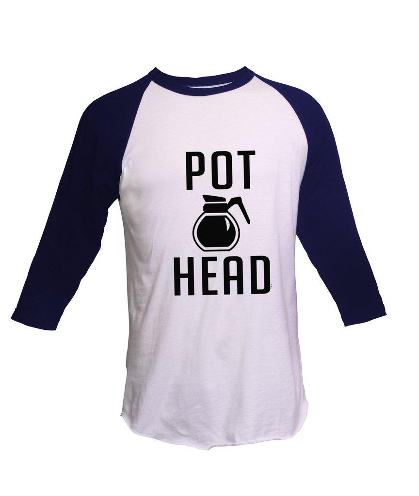 Coffee Pot Head Unisex Fine Raglan Ts Shirts