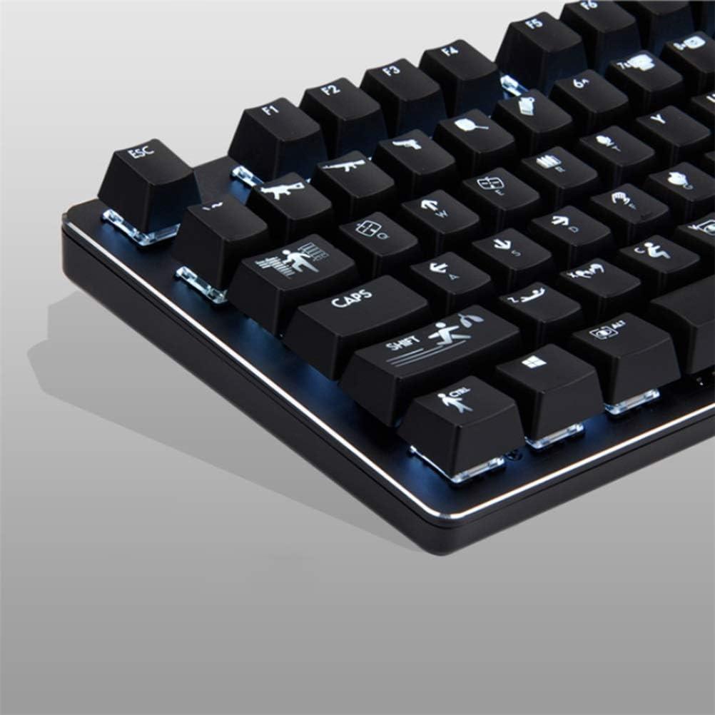 JINXUXIONGDI Game Game Dedicated Black Black Axis Mechanical Keyboard ABS Square Key Cap Mechanical Keyboard Home Desktop Computer Notebook