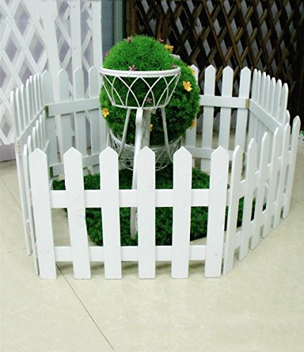 ZENGAI Fence Solid Wood Flower Racks Outdoor Cut Off Wall Fl