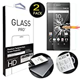 "[2 Pack] Sony Z5 Premium Screen Protector, ANGELLA-M HD [Crystal Clear] Tempered Glass Screen Protector for Sony Xperia Z5 Premium / Z5 Plus (5.5"")"