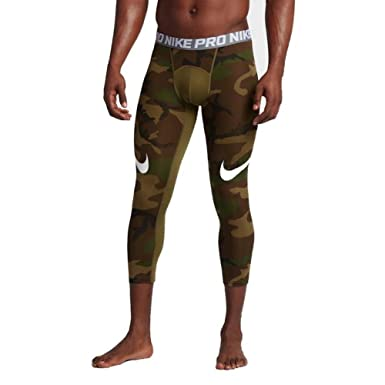 ceb695474079d Nike Men's Pro Cool Camo Printed 3/4 Length Football Tights (XXXX-Large