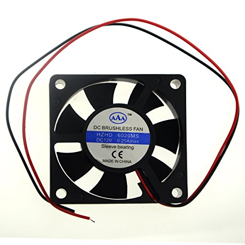BXQINLENX 6020 Dc12v Quiet Brushless Cooling Fan Miniature Cooling Fans 2pin 60x60X20mm 7 Blade 6020