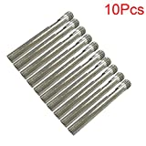 LDEXIN 10pcs 6mm/0.24inch premium diamond coated drill hole saw fit Dremel or Compatible Rotary Tools (6mm/0.24inch)