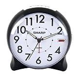 Sharp SPC127A Quartz Analog Alarm Clock (Black/White)
