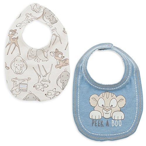 Disney Simba, Dumbo, and Bambi Reversible Bib Set for Baby Multi ()