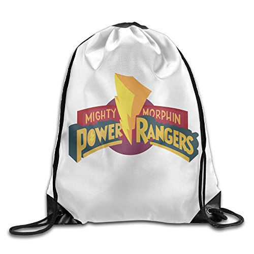DEMOO Power Ranger LOGO Drawstring Backpack / Sack Bag