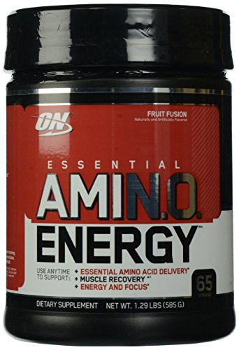 OPTIMUM NUTRITION ESSENTIAL AMINO ENERGY, Fruit Fusion, Keto Friendly Preworkout with Green Tea and Green Coffee Extract, 65 Servings