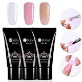 #7: CoulorButtons 3Pcs 30ml UR SUGAR Quick Building Poly UV Builder Nail Gel Finger Extension Gel