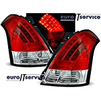NEW TOP SET TAIL LIGHTS LDSI02 SUZUKI SWIFT 05.2005-2010 RED WHITE LED