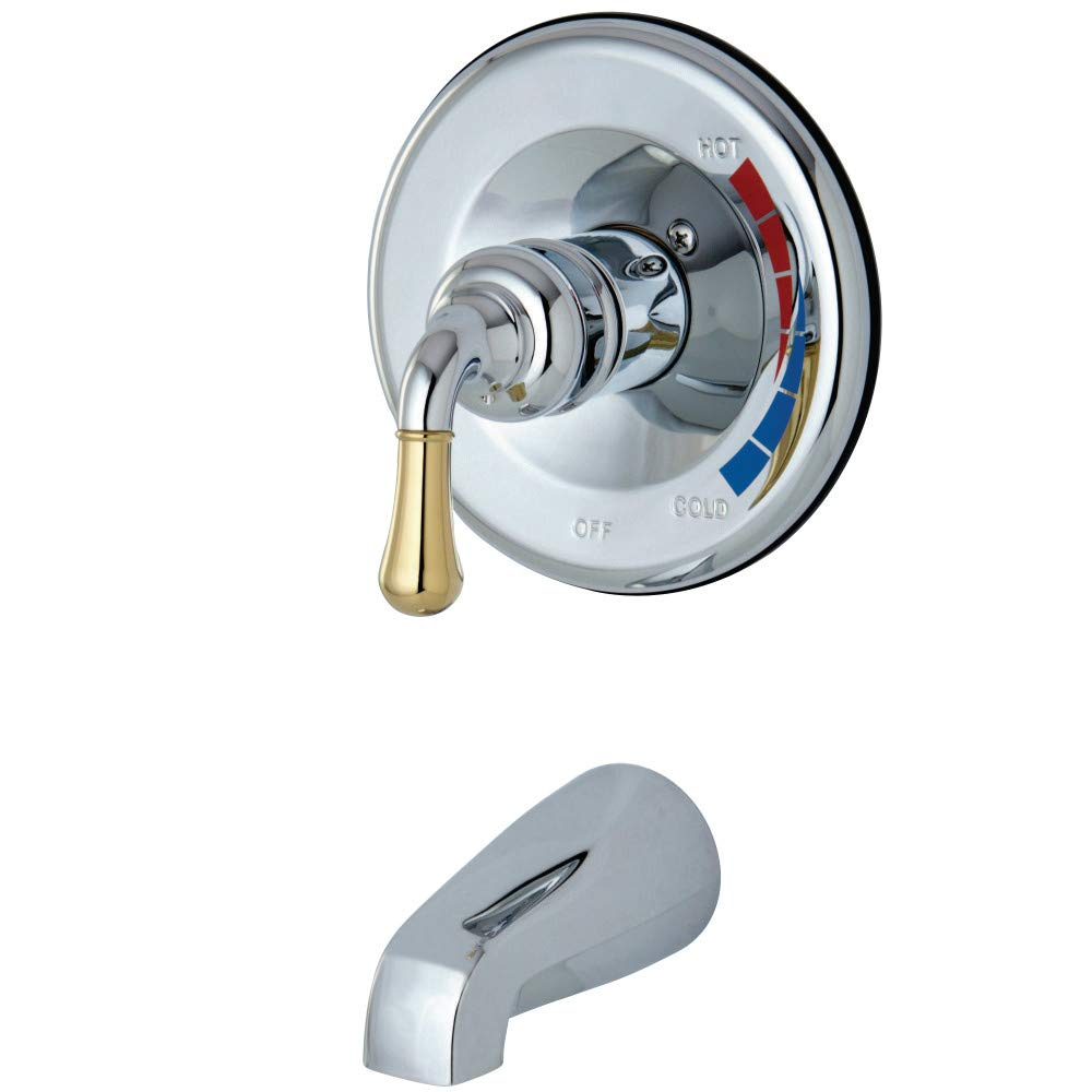 Kingston Brass KB634TO Magellan Shower Faucet Tub Only for KB634 5-Inch Spout Reach Chrome//Polished Brass