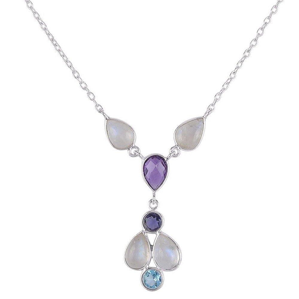 Nathis Rainbow Moonstone Gemstone Pendant