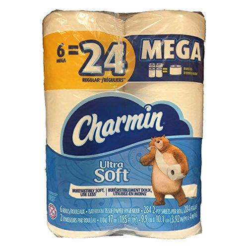 Large Product Image of Charmin Ultra Soft Mega Roll Toilet Paper, Mega, 24 Count