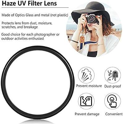 Lente de Filtro UV de 52 mm Haze Protector de Lente de 52 mm para ...