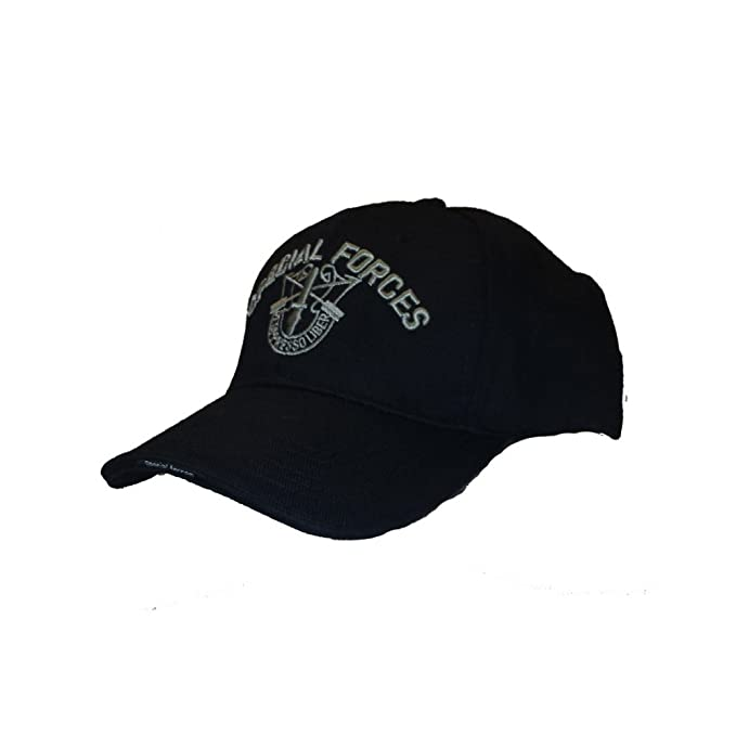 Cappello da Baseball Militare Special Forces Berretti Verdi Americani USA  (Nero)  Amazon.it  Abbigliamento 11d804d44cfb