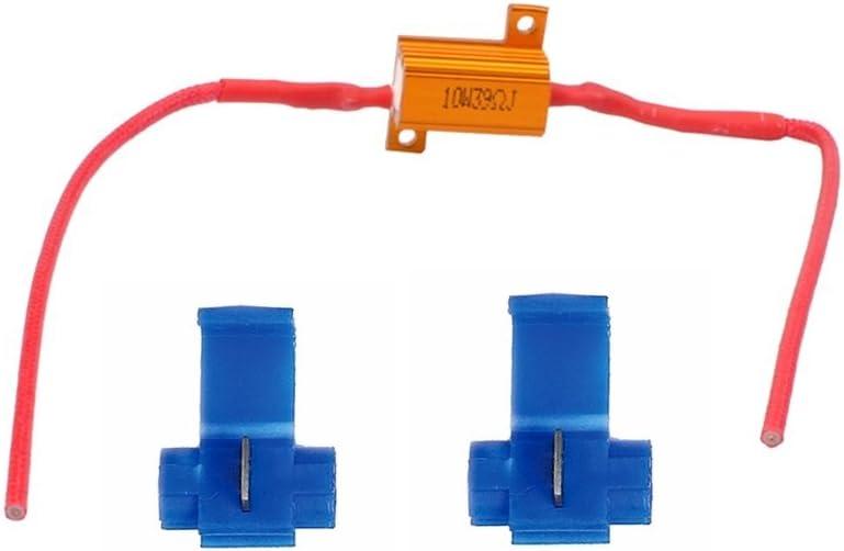 39ohm iluminaci/ón de la matr/ícula del LED standlight CAN resistencia bus 12V 10W 1x LED Bombilla Rezystor 10W RE001 resistencia