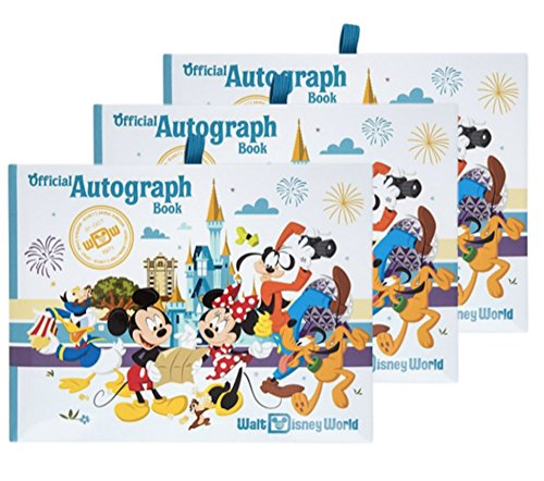 Walt Disney World Four Parks Official Autograph Book - Set of 3 Books