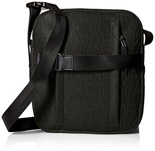 Armani Exchange Men's Allover Rubber Nylon - Armani Exchange Bag Black