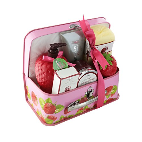 Spa Life All Natural Bath and Body Luxury Spa Gift Set Basket (Body Gifts Gift Baskets Bath)
