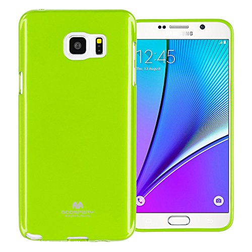 - GOOSPERY Marlang Marlang Galaxy Note 5 Case - Lime Green, Free Screen Protector [Slim Fit] TPU Case [Flexible] Pearl Jelly [Protection] Bumper Cover for Samsung GalaxyNote5, NT5-JEL/SP-LIM