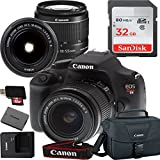 Canon EOS Rebel T5 Digital SLR Camera with EF-S 18-55mm IS II Kit Accessory Bundle + 32GB SD Card + Canon Case