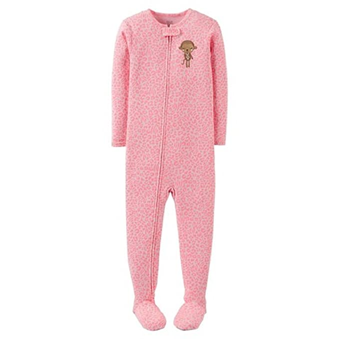 Carter s Just One You Toddler Girls  Animal Print Footed Pajama - Pink (9  Months fe5c88666