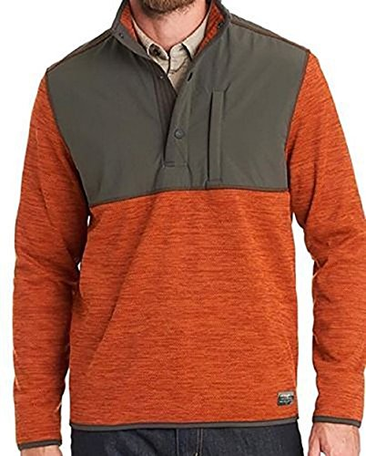 ��s Mixed Media Pullover (Orange, 2X-Large) (Left Chest Logo Pullover Jacket)