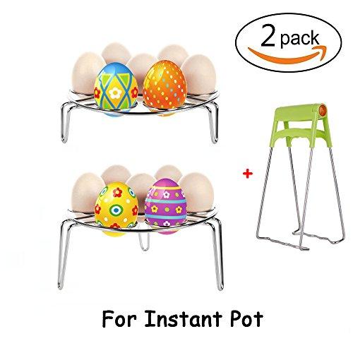 Crab Legs Steamed (YidaLife Egg Steamer Rack,2-Pack Stainless Steel Steaming Stand for Instant Pot, Multipurpose Egg Steam Rack (Two Pack Egg Streamer Rack))
