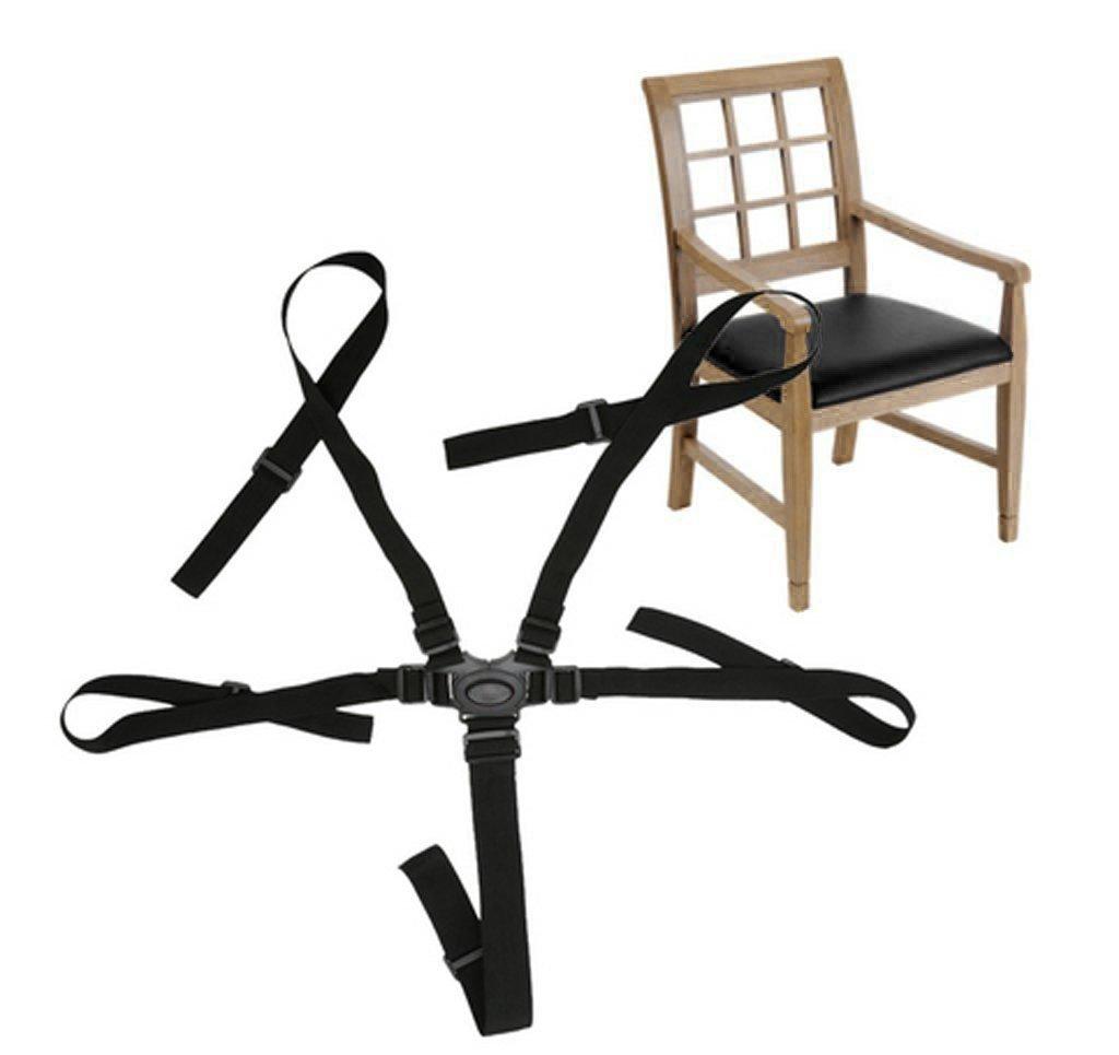 Baby Protection Seat Stroller Belt 5 Point Harness Safe Belt Seat For Stroller High Chair Children Kid Pushchair Black