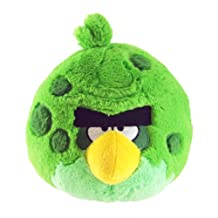 Commonwealth Toy 5-Inch Angry Birds Green Space Plush with Sound