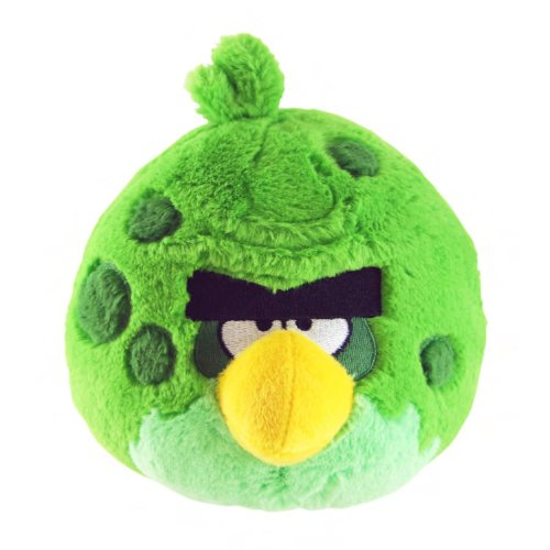 Angry Birds Space 5-Inch Green Bird with Sound (Green Plush Bird)