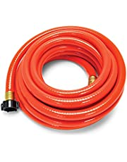 """Camco 22990 RhinoFLEX Gray/Black Water Hose - 25' Clean Out Hose, 5/8"""" ID"""