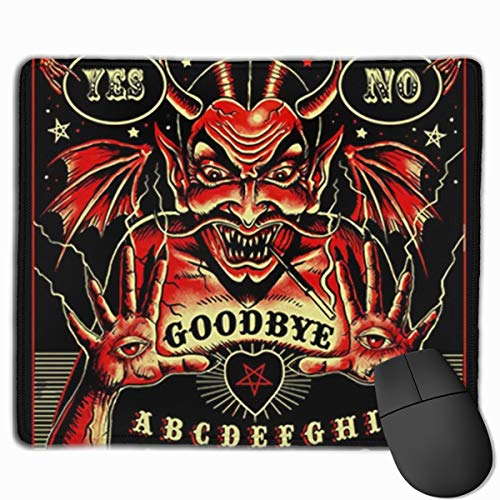 Witch Devil Spirit Ouija Board Mouse Pads Computer Laptop Keyboard Mousepad Office Space Home Decor Mouse Mats Accessories 9.8 X 11.8 X 0.1 Inches