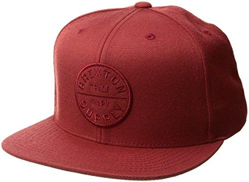 Brixton Men's Oath III Medium Profile Adjustable Snapback Hat, brick, One - Cap Back Snap