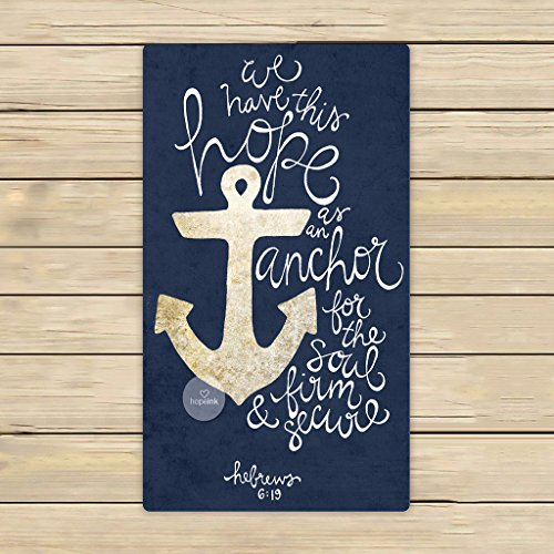 Anchor Polka Dot Double Jacquard Oversized Beach Towel Red//Blue 64x34 NIP
