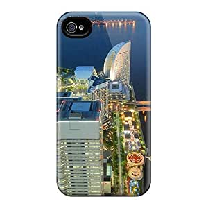 Excellent Design Amusement Park In A Beautiful City In Japan Phone Case For Iphone 4/4s Premium Tpu Case
