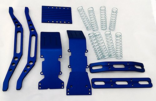 (T-Maxx, E-Maxx, S-Maxx blue anodized aluminum package super deal)