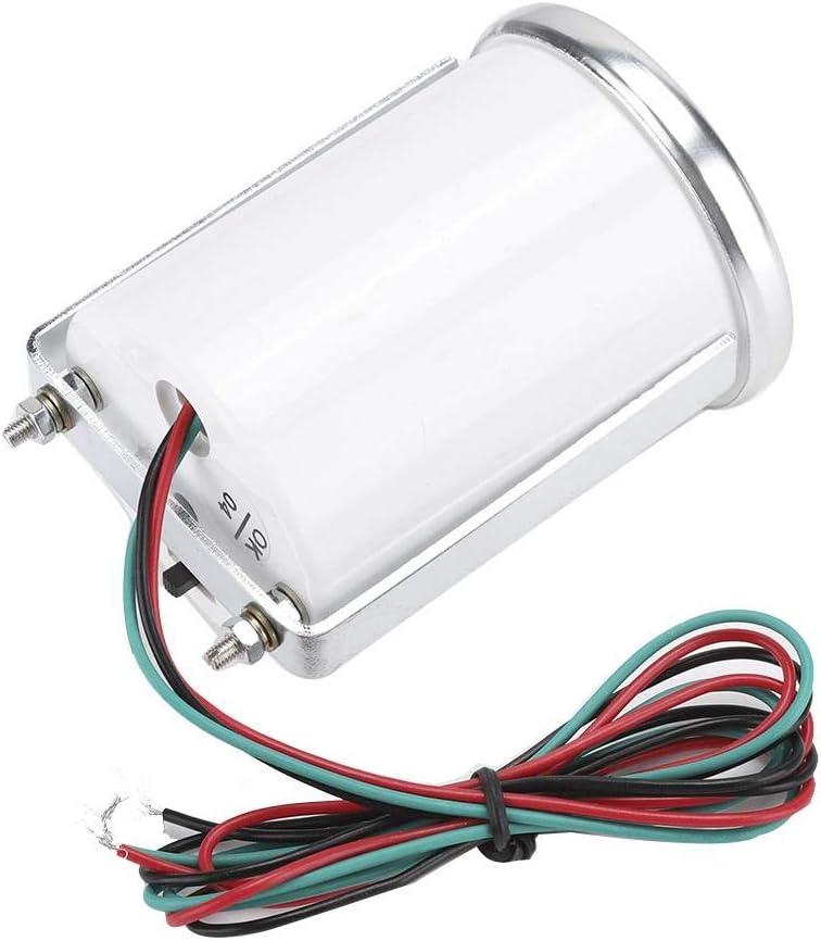 Duokon 52mm//2in 0-10000 RPM Tachometer LED White Light Pointer Tach Gauge Smoke Lens 12V
