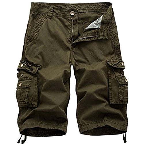 Men's Pants, Limsea Pure Color Outdoors Pocket Beach Work Trouser Cargo Shorts Pants]()