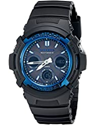 Casio G-Shock AWGM100A-1A Mens Tough Solar Black Resin Sport Watch