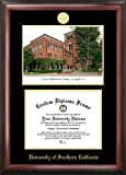 Campus Images CA940LGED ''University of Southern California Embossed Diploma'' Frame with Lithograph Print, 8.5'' x 11'', Gold