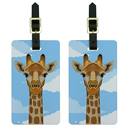 Giraffe Sky Luggage Suitcase Carry