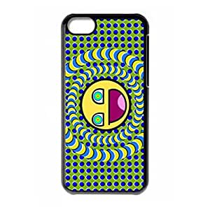 Hard back shell with Crazy Trippy and moon logo for iPhone 5C